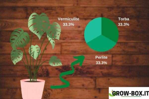 terriccio per coltivare indoor